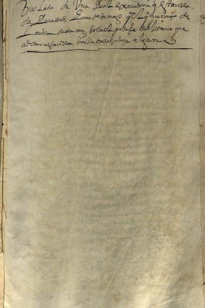 """Ejecutoria Sobre Pasaje """"Pleito De La Barca"""" 1546"""