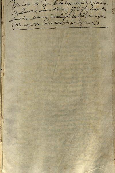 Ejecutoria Sobre Pasaje «Pleito De La Barca» 1546